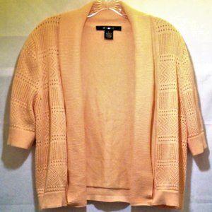 Open Front Crop Cardigan w/Crochet Detail